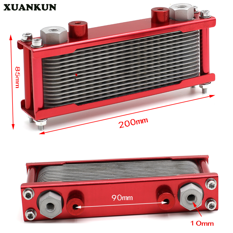 XUANKUN Motorcycle Oil Radiator Oil Cooler New Motorcycle Air Cooling To Oil Cooler brand new oil cooler cover for 4be1 4bc2 4bf1 npr ks22 8 94438 371 0 oil cooler covers