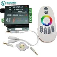 DC12V 24 V LED RGB Controlador Música RF 18A controle De Áudio 3 canal de Música TQ 2 para SMD 3528 5050 5630 Led Strip luz