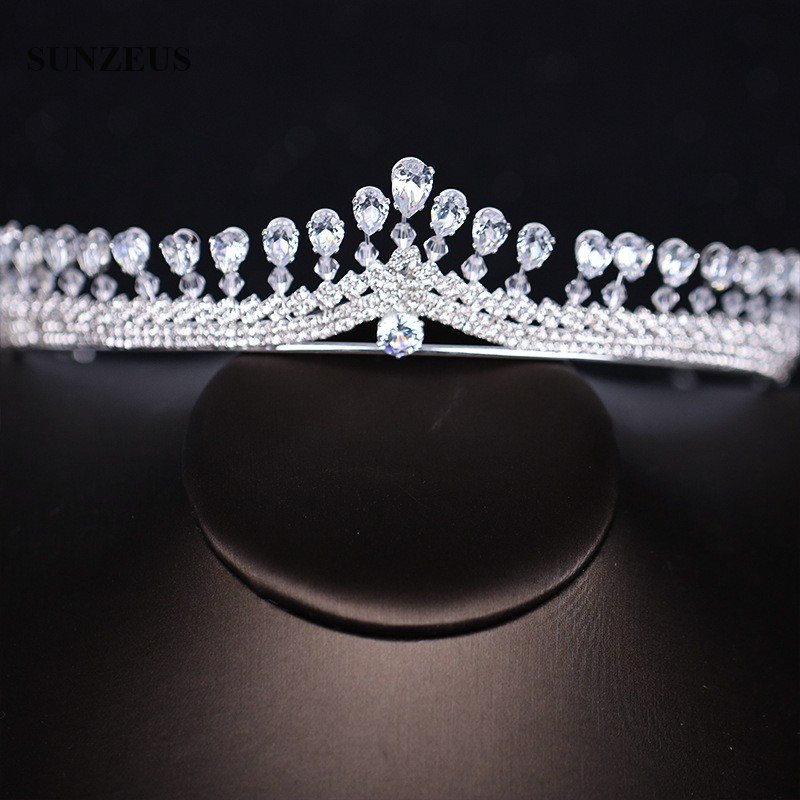 Image 2 - New Strass Bridal Tiara Shinny Silver Princess Crowns For Brides Wedding Head Accessory Free Shipping SQ0294-in Bridal Headwear from Weddings & Events