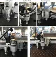 Machine de découpe de cuir à grande vitesse CNC couteau vibrant CNC de coupe couteau oscillant, découpeuse de maille de fibre de verre