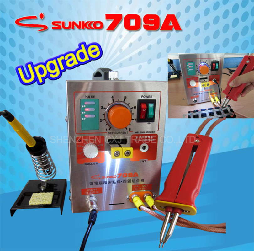 1.5kw Pulse Spot Welder S709A Battery Welding Soldering Machine with Universal welding pen +50pcs Nickel sheets 1 9kw sunkko led pulse battery spot welder 709a soldering iron station spot welding machine 18650 16430 14500 battery 220v 110v
