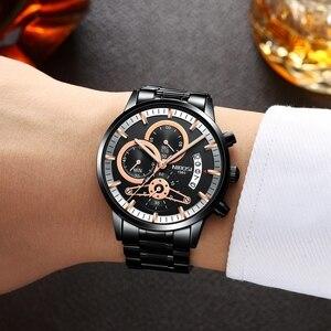 Image 5 - NIBOSI мужские часы лучший бренд класса люкс Хронограф Мужские спортивные часы водонепроницаемые полностью Стальные кварцевые мужские часы Relogio Masculino