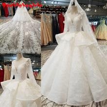 14454 Princess Long Sleeves Muslim Wedding Dresses Gowns