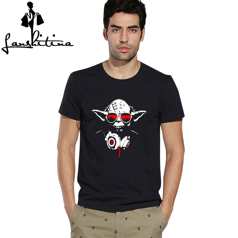 Fashion shirt famous movies logo design star wars dj yoda Dj t shirt design