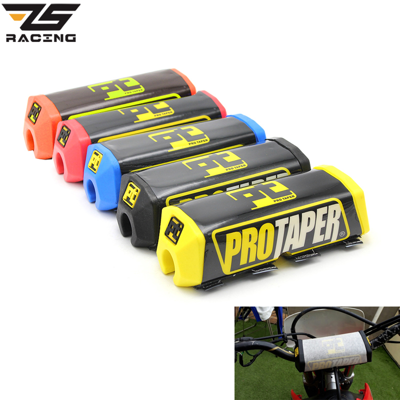 ZS-Racing Pro Taper Handlebar Bar Pad Fat Bar Pad Chest Protector Cross Bar Fit 1-1/8 Handle Bar Motorcycle Dirt Bike Pit Bike bar