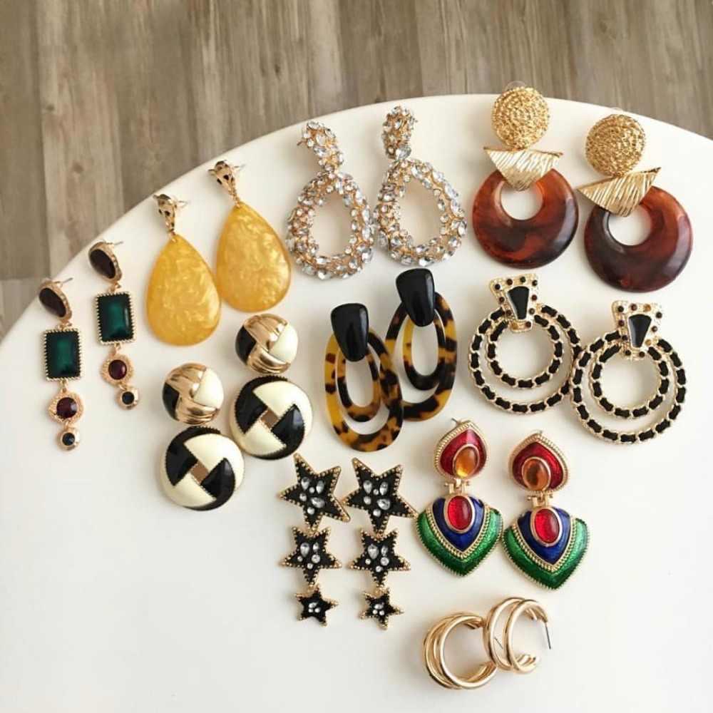 50abbcbdf ... Miwens Za 32 Designs Maxi Resin Bohemia Trendy Drop Earrings Women Big  Long Hanging Earring Wholesale ...
