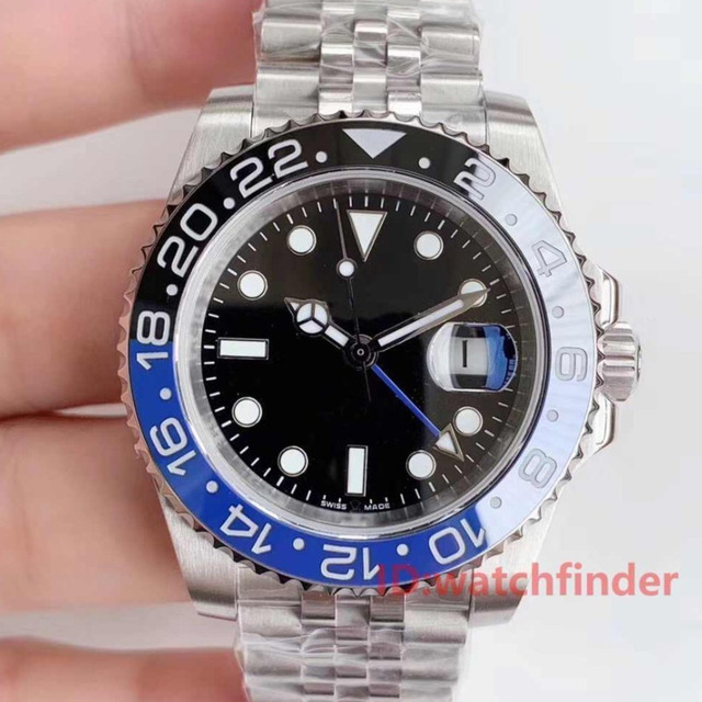 JUBILEE BRACELET Red Blue Stainless Steel Luxury Brand designer Rose Gold GMT Mens Automatic Watch man Watches Wristwatches