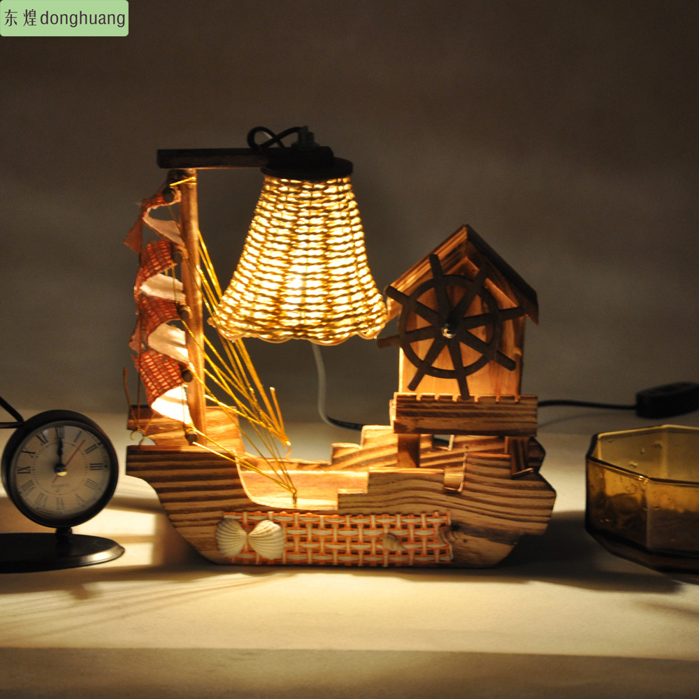 Free Shipping Wooden Lamps Living Room Bedroom Dining