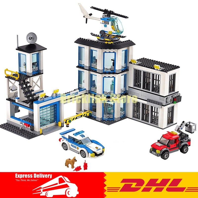 Lepin 02020 NEW City Series The New Police Station Set children Educational Building Blocks Bricks Funny Toys Model Gift 60141 lepin 02006 815pcs city series police sea prison island model building blocks bricks toys for children gift 60130