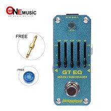 Аромат AEG-3 GT 5-Band гитары эквалайзер мини аналоговый эффект Правда Обход+ Бесплатный разъем