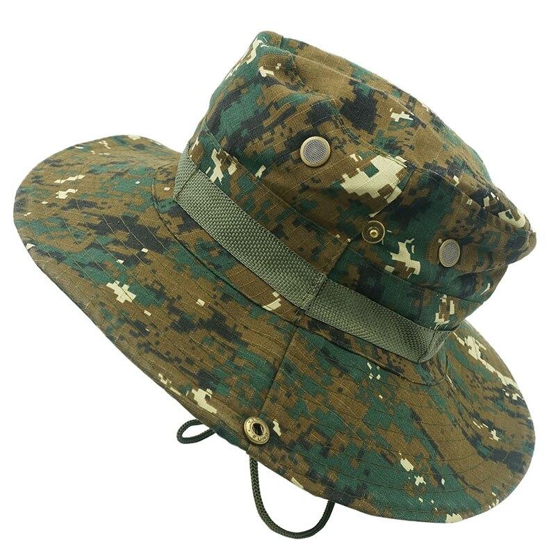 Unisex Camouflage Secchio Cappelli Esplorazione All aperto Sole Estivo  Berretti Jungle Cotone Cappello Pescatori Forze Speciali Cap Braccio in  Unisex ... 7507fd203c03