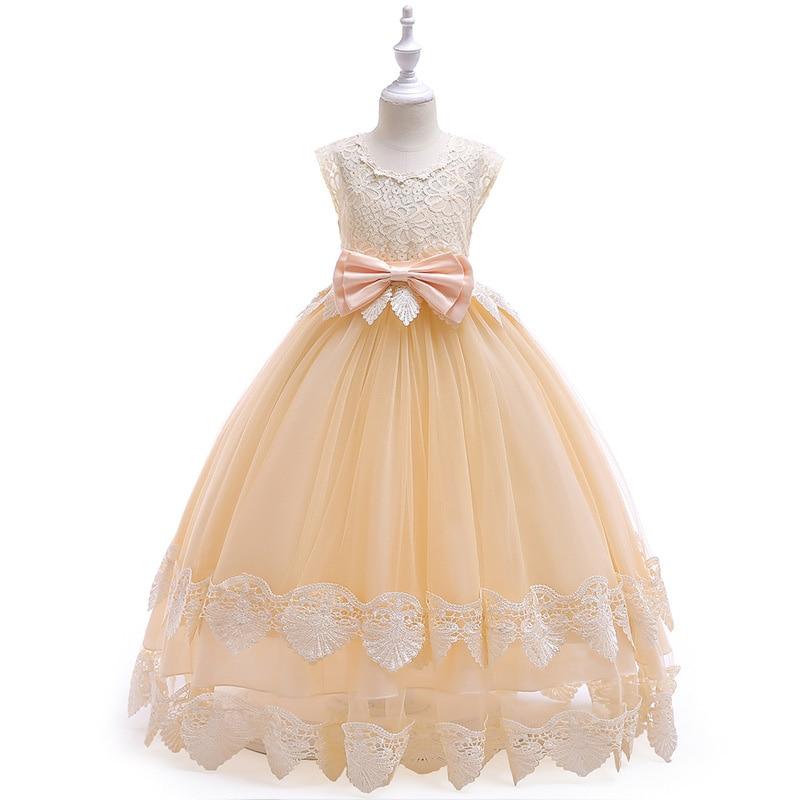 f8f7d38fa Flower Girls Dress 2018 Elegant Girl Princess Dress Children Wedding ...