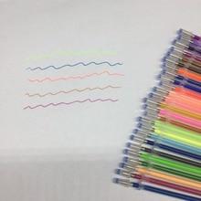 12 24 36 48Colors/Set Flash Ballpint Gel Pen Highlight Refill Color Full Shinning Refill Painting Pen Drawing Color Pen
