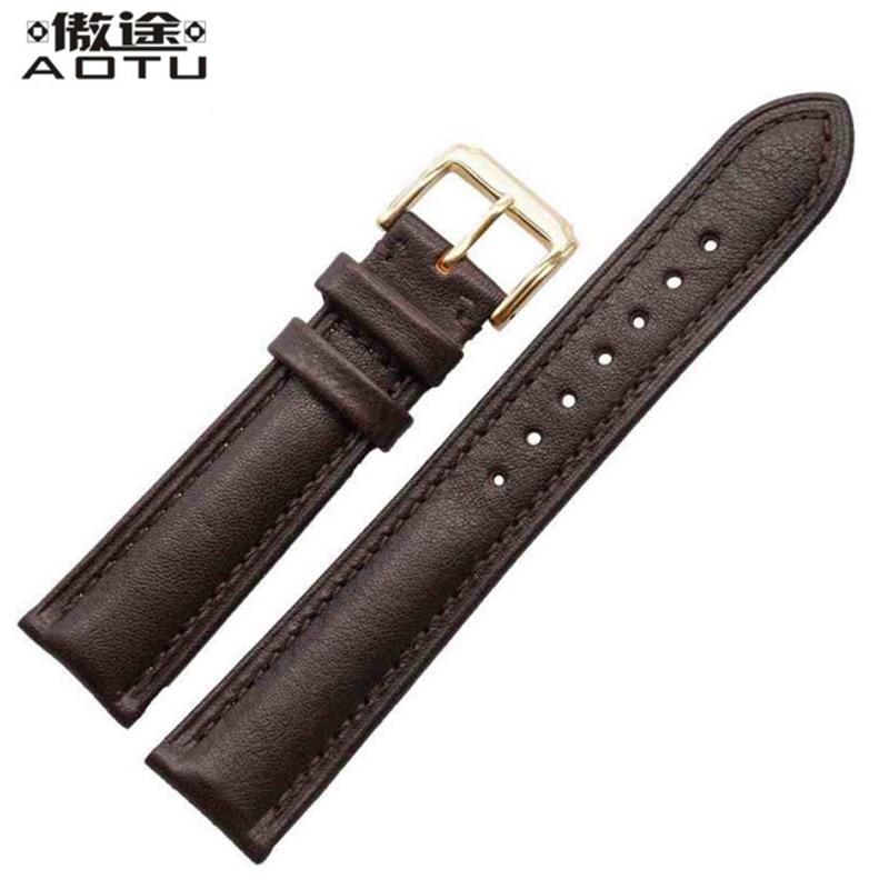 18mm 20mm 22mm Genuine Leather Watchbands For Rolex Men Watch Straps Water Resistant Women Watch Belt Watchbands Fits All Brand все цены