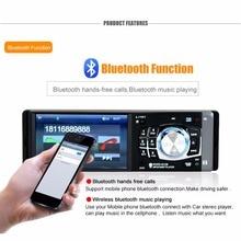 Cimiva 4.1 дюймов 12 В Bluetooth TFT СВЕТОДИОДНЫЙ Экран Громкой Связи Car Радио Стерео MP3/4/5 Игрок Колеса пульт дистанционного Управления 87.5-108 МГц FM/USB