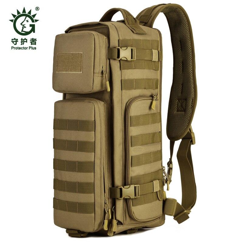 Field Tactical Chest Sling Pack Outdoor Sport One Single Shoulder Man Big Large Ride Travel Backpack Bag Advanced Tactical * string sling pack