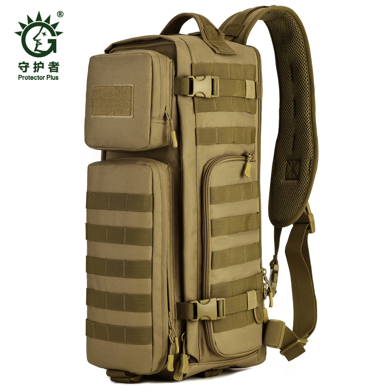 Field font b Tactical b font Chest Sling Pack Outdoor Sport One Single Shoulder Man Big