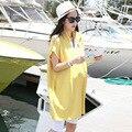 2016 новый летний matnity dressses плюс размер женщин футболки presgnant платья материнства футболки 16294
