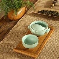 Hohe Qualität Seladon Tee-Set 1 Teekanne 1 Tasse Gai wan Keramik Teekanne wasserkocher Teekanne Tee-set Tasse Set