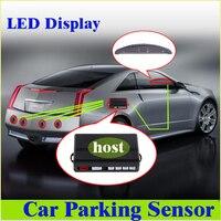 Заводская цена led Автостоянка Сенсор помощь обратный резервный радар Мониторы Системы Подсветка Дисплей + 4 Датчики 6 видов цветов R1