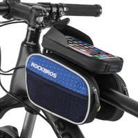 ROCKBROS Bike Frame Bag Front Tube Bag Rainproof Reflective Bicycle Bag Accessories MTB Cycling Smart Phone 5.7in Bike Bag