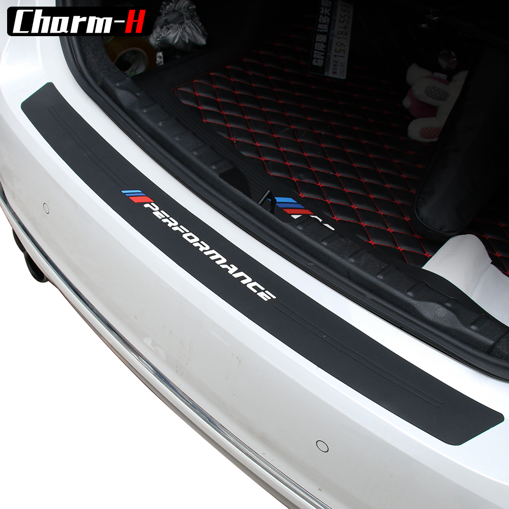 2018 New Performance Rubber Car Rear Bumper Trim Guard Plate Protector Sticker For bmw e39 e46 e90 f30 f10 f01 f20 f32 f33 Z4 X1 protective pvc car bumper guard protector sticker white 2 pcs