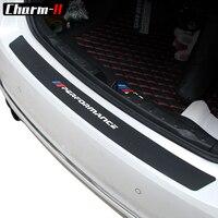 2018 New Performance Rubber Car Rear Bumper Trim Guard Plate Protector Sticker For Bmw E39 E46