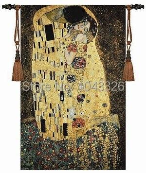 139cm X 89cm wedding gift Klimt kiss love wall hanging tapestry for home decor PT-47