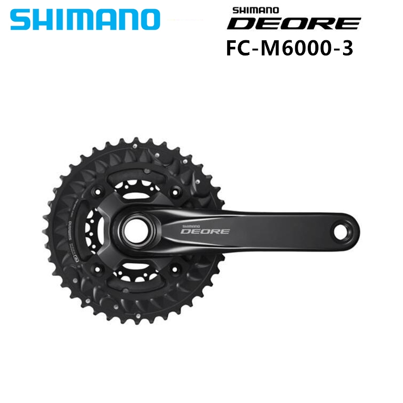 SHIMANO DEORE M6000 Black 10 Speed Chainset Crankset 3x10 Speed Chain Wheel crank protector crank update