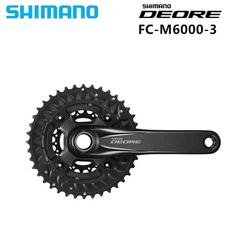 28b6dc3d931 SHIMANO DEORE M6000 Black 10 Speed Chainset Crankset 3x10-Speed Chain Wheel  crank protector crank