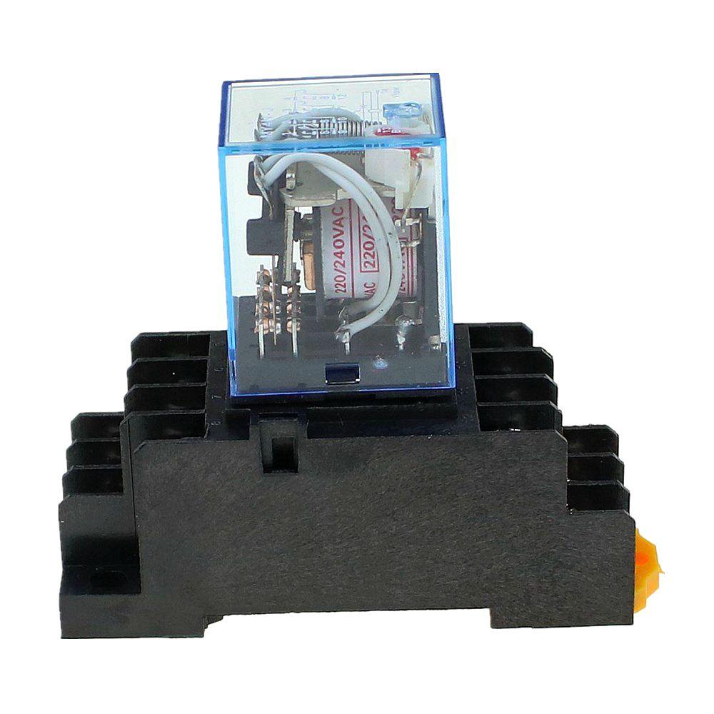 240V A//C Coil Lot of 5 Omron MY2N-J 5A Cube Relay with Socket Base PYF08A