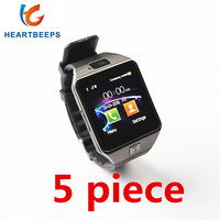 5 piece Factory wholesale price DZ09 Bluetooth Smart Watch,For Android ISO Phone Support Sim Card TF Card