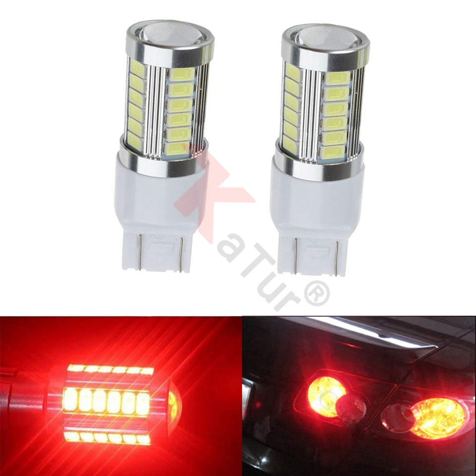 2pcs Super Bright 7443 Led Lamps For Cars Stop Lamp Backup Lights Interior RV Camper Bulbs Red White Blue Led 12V 3.6W by Katur
