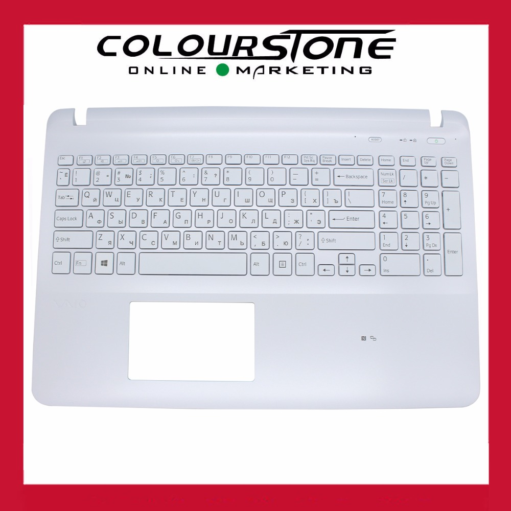 ФОТО New RUSSIA White Laptop keyboard for SONY FIT15 SVF151 RU WHITE WITHOUT TOUCHPAD WITH Backlit RUSSIA Keyboard