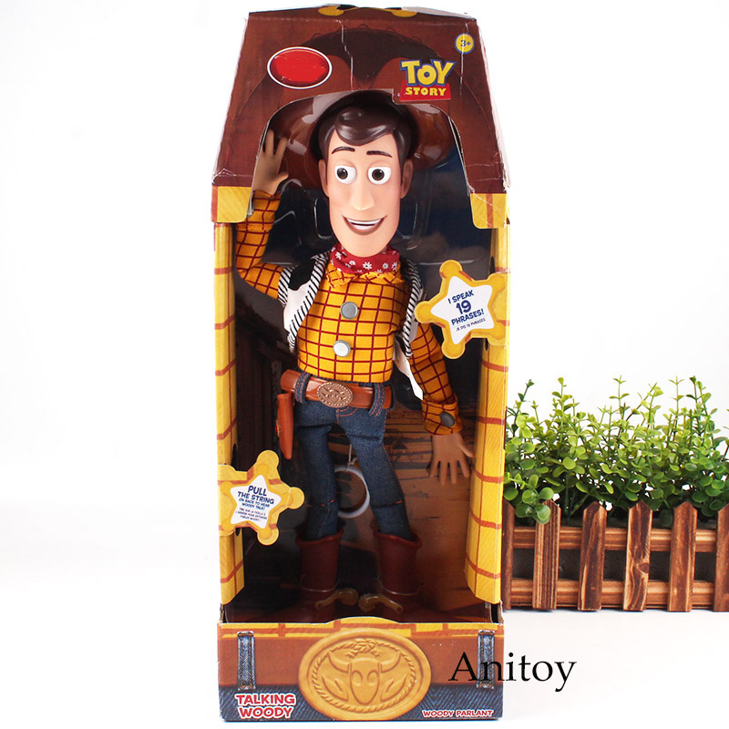Toy Story Woody Toys Speaking Sheriff Woody Action Figure Fabric Plush Doll Figurine Toy Story Toys for Children Boys 35cm the toy story pink pig hamm action figure toy doll