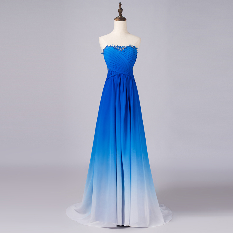 Long royal blue bridesmaid dresses 2015 vestidos de for Blue long dress wedding