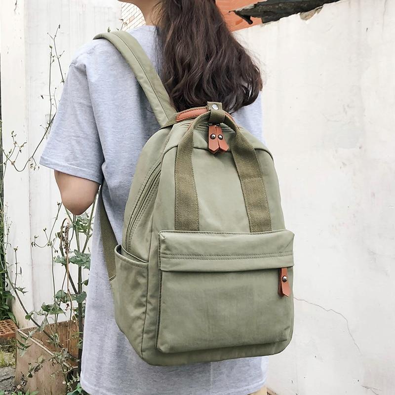 Female Vintage Backpack Women Nylon School Bags For Teenage Girls Student Backpack Ladies Luxury Waterproof Bag Book New Fashion