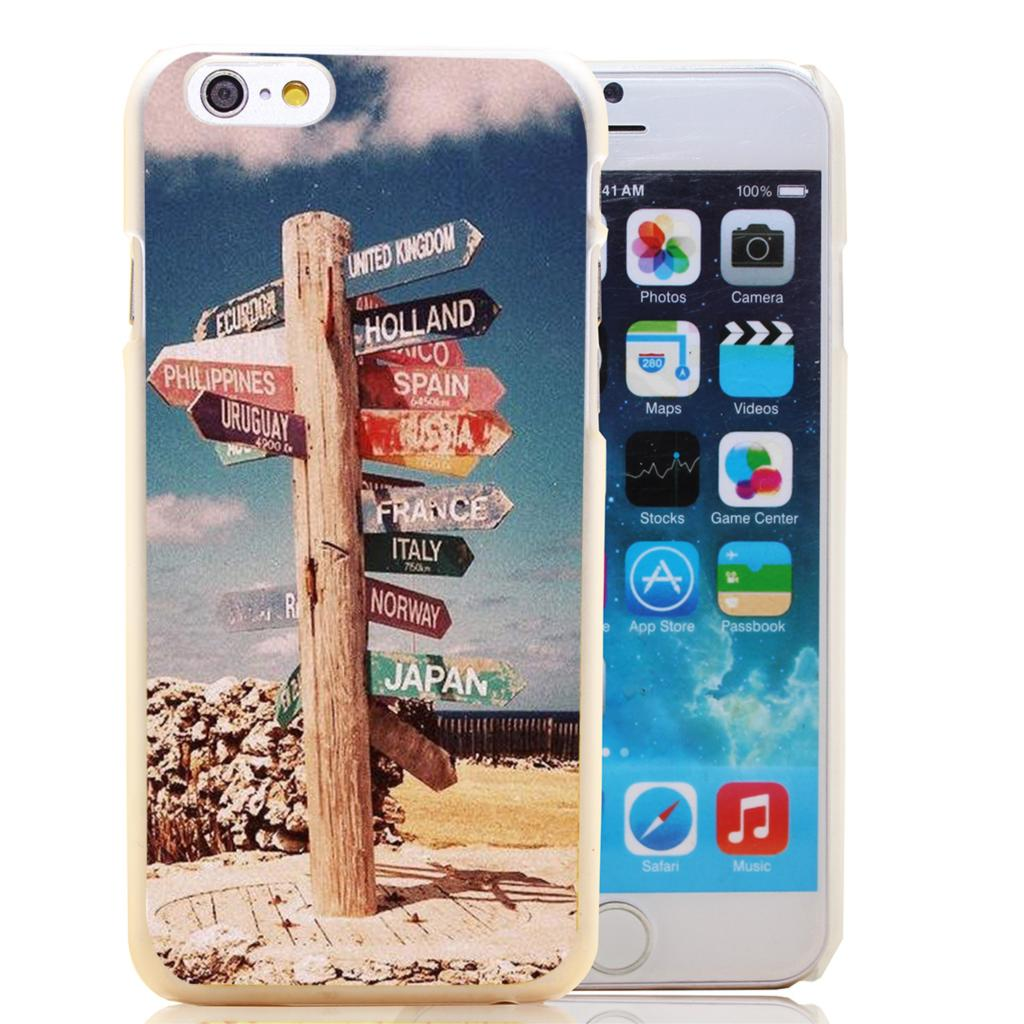 1833-HOQE Vintage Travel The World Sign Wanderlust Transparent Hard Case Cover for iPhone 6 6s plus 5 5s 5c 4 4s Phone Cases