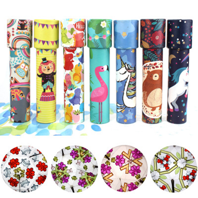 2019 Cartoon Kids Kaleidoscope Magic Changeful Educational Toy Adjustable Fancy Kaleidoscope School Party Gift Scalable Rotation