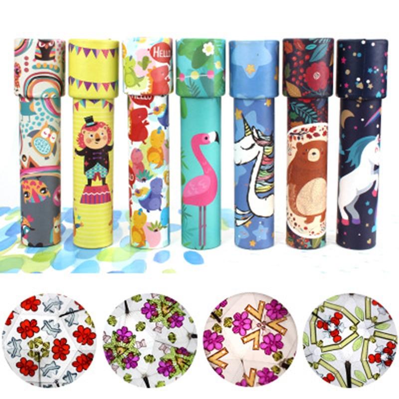 2019 Cartoon Kids Kaleidoscope Magic Changeful Educational Toy Adjustable Fancy Kaleidoscope School Party Gift Scalable Rotation