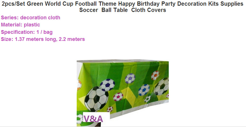 CAMMITEVER 1pc Green Football Theme Happy Birthday Party Decoration