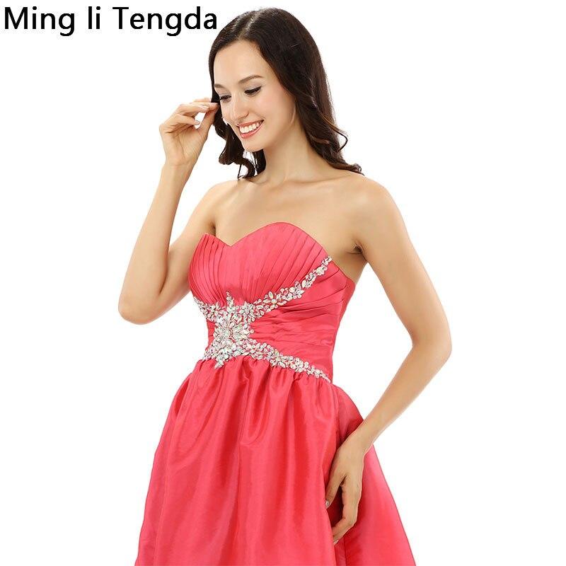 2017 New Red Stain Short Bridesmaid Dresses Hand Beaded Pattern Bridesmaid Dress Robe Demoiselle D'honn Mingli Tengda Sleeveless