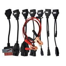 Высокое Качество Полный набор tcs CDP Плюс автомобилей кабели cdp + 8 автомобиль ведет диагностический Интерфейс кабель для мвд Multidiag pro бесплатная доставка