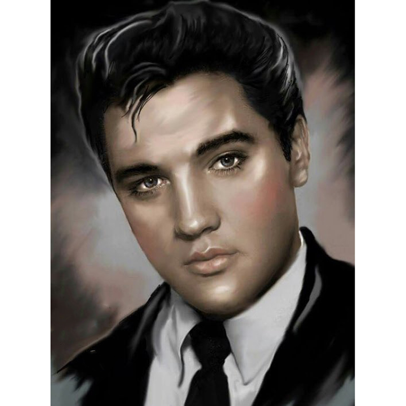 5D DIY Full Square drill Diamond Painting Cross Stitch Elvis Presley Rhinestone Embroidery Mosaic home decor in Diamond Painting Cross Stitch from Home Garden