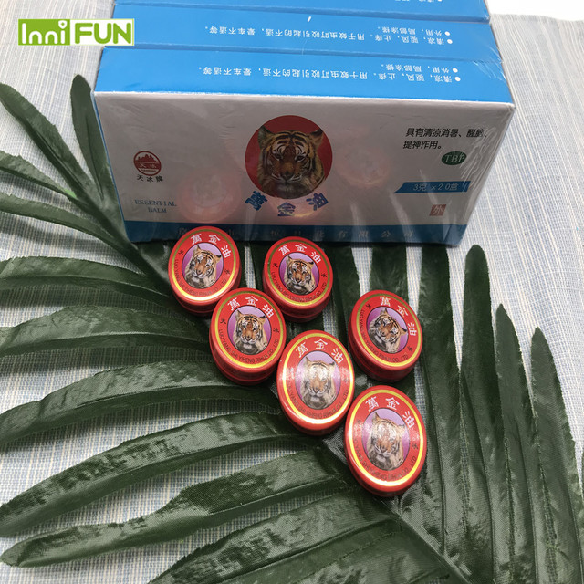 5pcs/lot InniFun Natural Tiger Balm Essential Oil Treatment Of Influenza Cold Headache Dizziness Muscle Tiger Balm Ointment