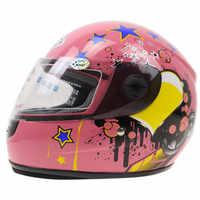 Children Motorcycle Helmet Safety Kids Full face motorbike helmet E-bike helmet with Neck cover Winter helmet For boy and girls