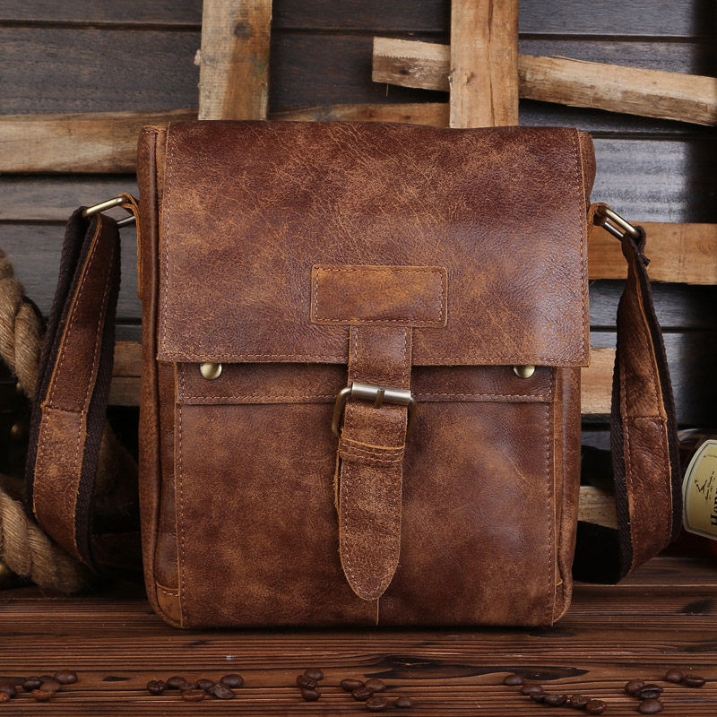 NEWEEKEND Genuine Leather Men Bags Hot Sale Male Small Messenger Bag Man Fashion Crossbody Shoulder Bag For IPAD 8571 hot 2017 genuine leather bags men high quality messenger bags small travel black crossbody shoulder bag for men li 1611