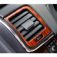 High Quality Stainless Steel Peach Wood Style Air Conditioning Outlet Decorative Frame Trim 2pcs For Toyota