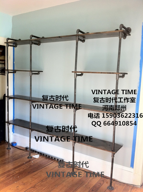Loft Retro Style Bookcase Shelf Water Pipe Wall Shelves In Swivel Plates From Home Improvement On Aliexpress Alibaba Group