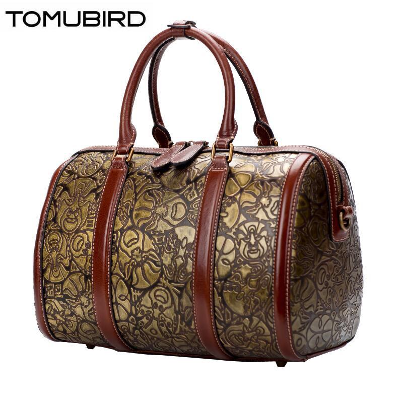 TOMUBIRD 2017 new quality cowhide material Retro embossed famous brand women bag fashion genuine leather handbags tote bag tomubird 2017 new superior leather retro embossed designer famous brand women bag genuine leather tote handbags shoulder bag